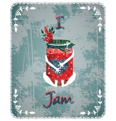 I love jam vintage advertisement poster concept vector