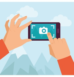 Mobile photo vector