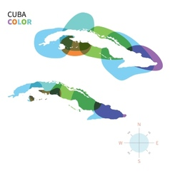 Abstract color map of cuba vector