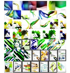 Mega collection of abstract geometric backgrounds vector