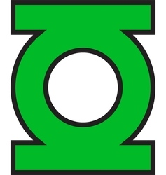 Green lantern logo vector