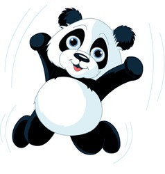 Happy panda vector