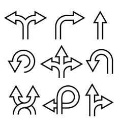 Arrows Icons Set vector image