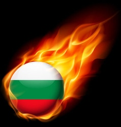 Round glossy icon of bulgaria vector
