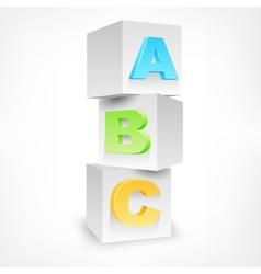 ABC blocks color vector image