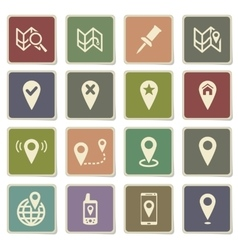 Pointer and maps simply icons vector