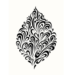 Stylized tree leaf on a light background vector image