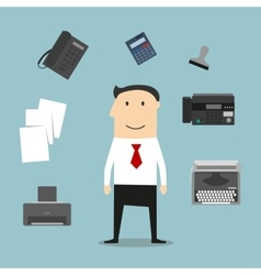 Secretary or manager profession icons vector
