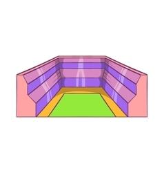 Rectangular stadium icon cartoon style vector