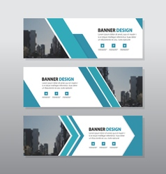 Blue triangle abstract corporate business banner vector