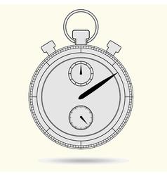 Stopwatch model gray vector