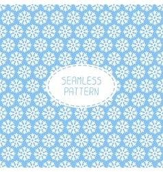 Blue seamless snowflakes pattern snow background vector image