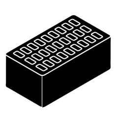 Brick icon simple style vector