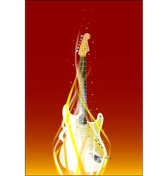 Burning guitar vector