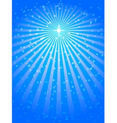 christmas star blue vector background vector image