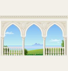 Classic arch of the palace vector