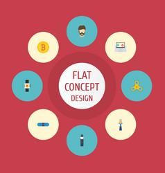 Flat icons bluetooth speaker technology fidget vector