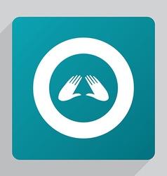 flat massage icon vector image vector image