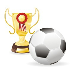 football cup vector image