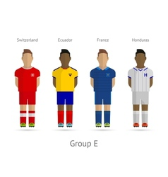 Football teams Group E - Switzerland Ecuador vector image