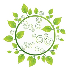 green ecology circle vector image