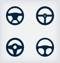 Handlebars automotive icons steering wheel vector