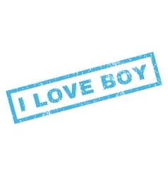 I Love Boy Rubber Stamp vector image vector image