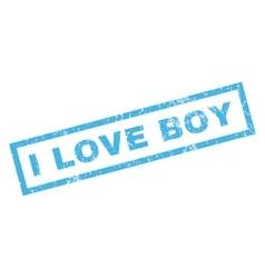 I love boy rubber stamp vector