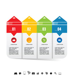 infographic icon arrow set colored vector image vector image