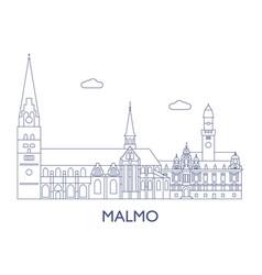 malmo vector image vector image