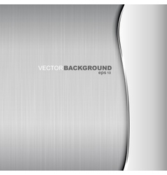 Metallic background Polished texture vector image vector image