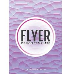 Pastel modern purple polygonal brochure flyer vector