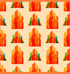 skyscrapers buildings seamless pattern tower vector image