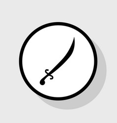 Sword sign flat black icon vector