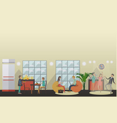 University common room in flat vector