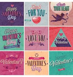 Valentine set vector image vector image