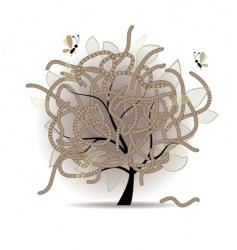 Worm-eaten tree vector