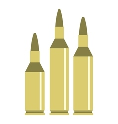 Bullet ammunition icon flat style vector