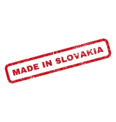 Made in slovakia rubber stamp vector