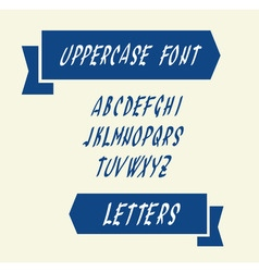 Uppercase english alphabet letters vector