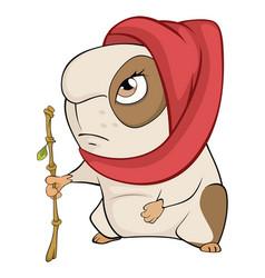 Funny brown guinea pig cartoon vector