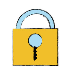 Padlock close element to protection the vector