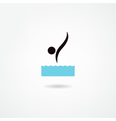 Diver icon vector