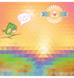 bright background of triangles vector image