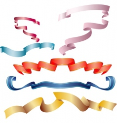 colour ribbons vector image