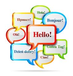 Hello speech bubbles vector image