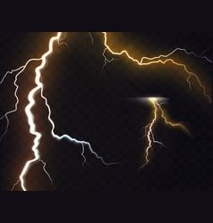 3d realistic of thunderbolt vector