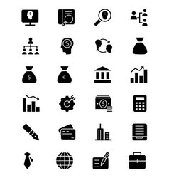 Finance solid icons 1 vector