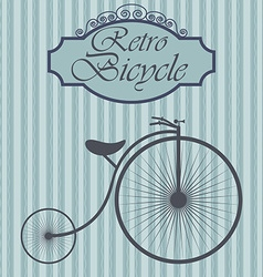 Retro bicycle on hipster background vintage sign vector