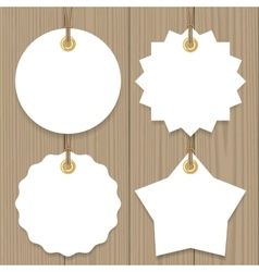 Sale tags mock up set vector